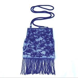 Beaded and Sequin Fringe Purse